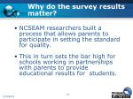 why do the survey results matter