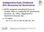 collaborative early childhood ec structures for governance