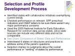 selection and profile development process