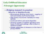 early childhood education a strategic opportunity5