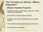 the transition to school what s important15