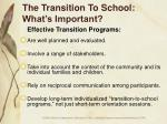 the transition to school what s important16