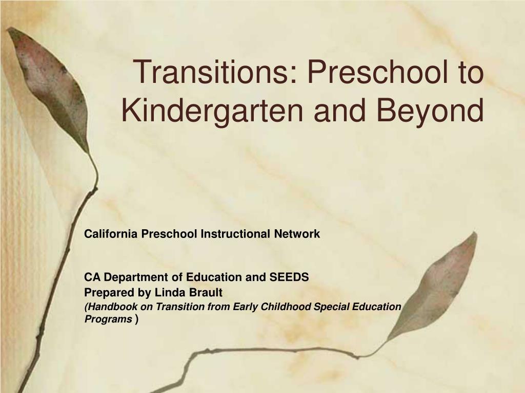 transitions preschool to kindergarten and beyond l.