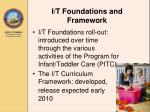 i t foundations and framework