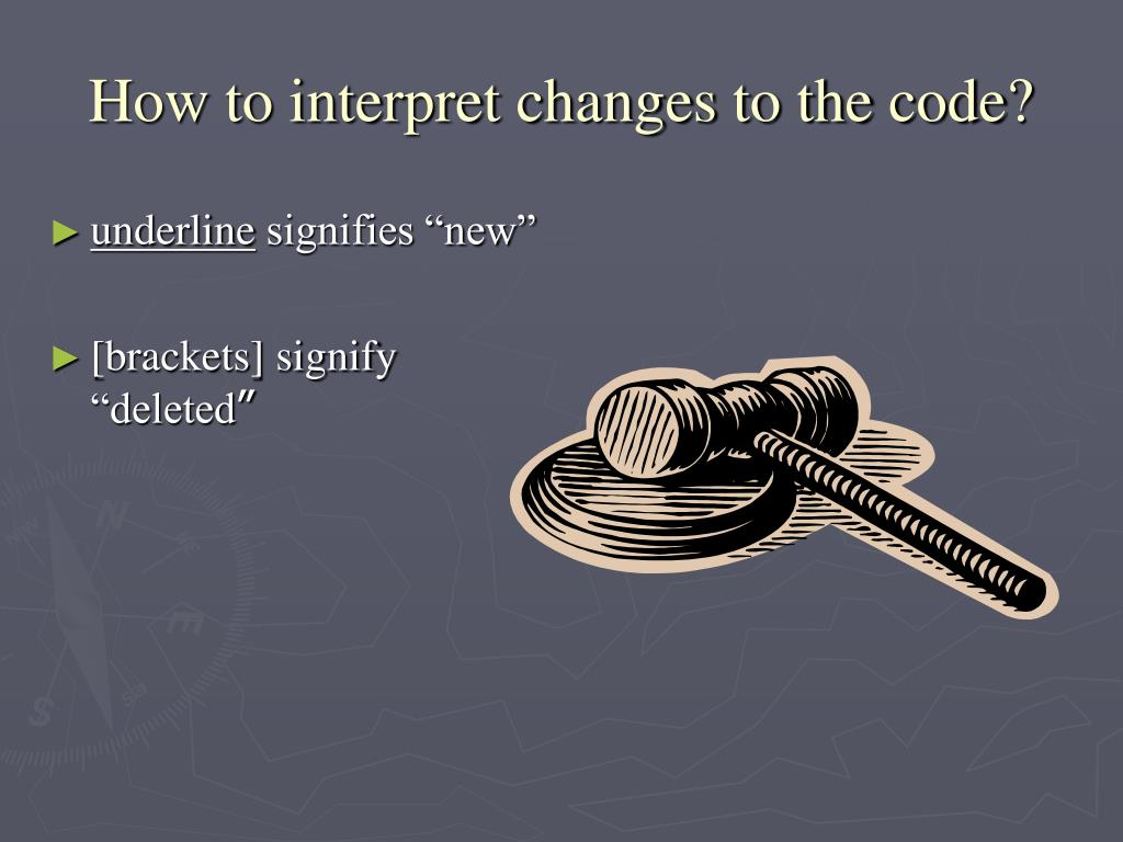 How to interpret changes to the code?