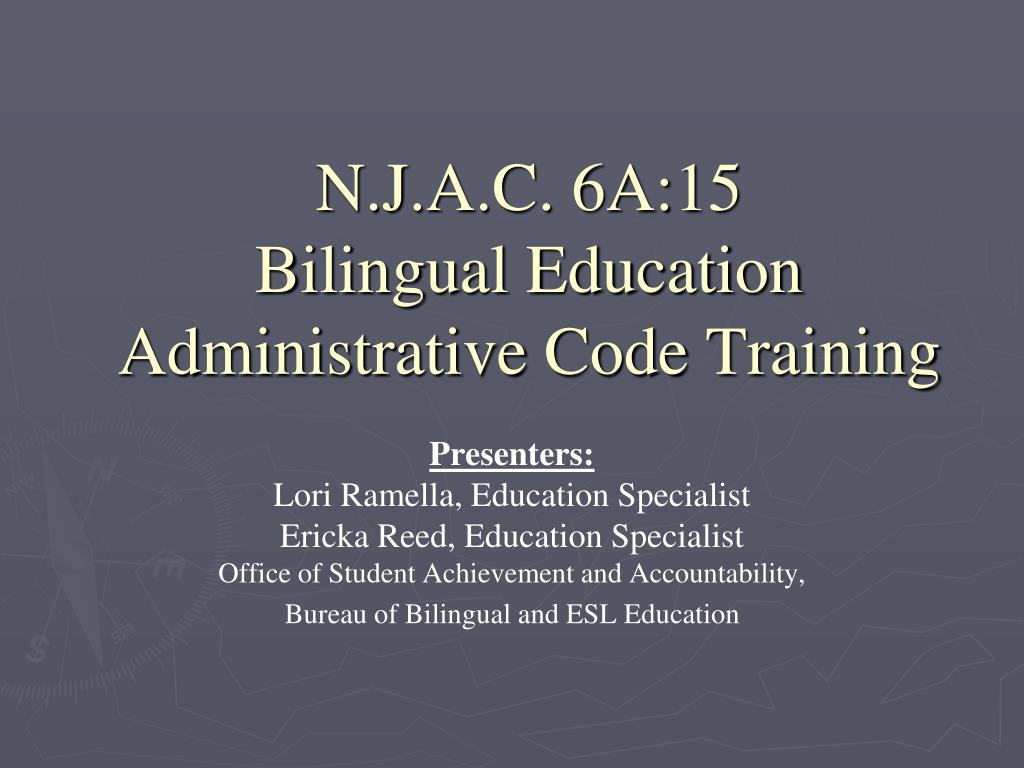 n j a c 6a 15 bilingual education administrative code training l.