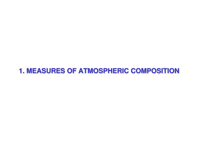 1 measures of atmospheric composition n.
