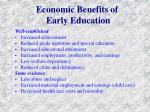 economic benefits of early education