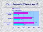 perry economic effects at age 27