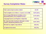 survey completion rates