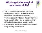why target phonological awareness skills