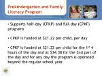 prekindergarten and family literacy program