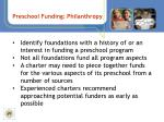 preschool funding philanthropy