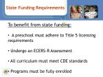 state funding requirements