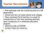 teacher recruitment