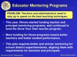 educator mentoring programs