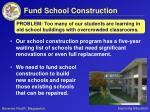 fund school construction