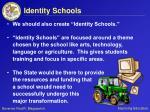 identity schools