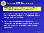 improve cte curriculum