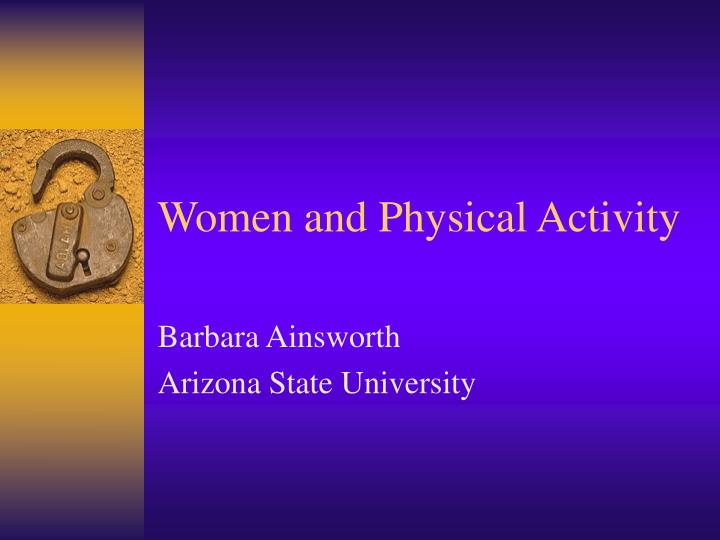 women and physical activity n.