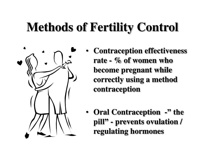 Methods of fertility control3