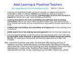 adult learning preschool teachers http agelesslearner com intros adultlearning html marcia l conner