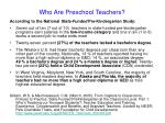 who are preschool teachers