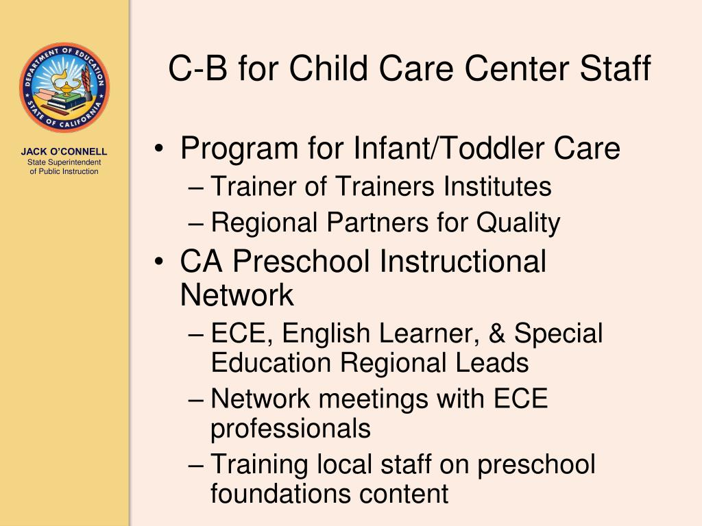 C-B for Child Care Center Staff