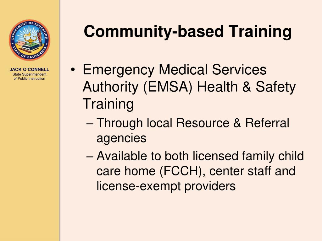 Emergency Medical Services Authority (EMSA) Health & Safety Training