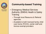 community based training