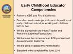 early childhood educator competencies
