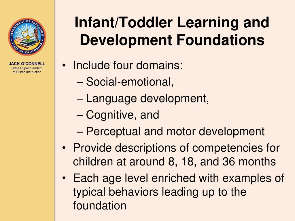Infant/Toddler Learning and Development Foundations