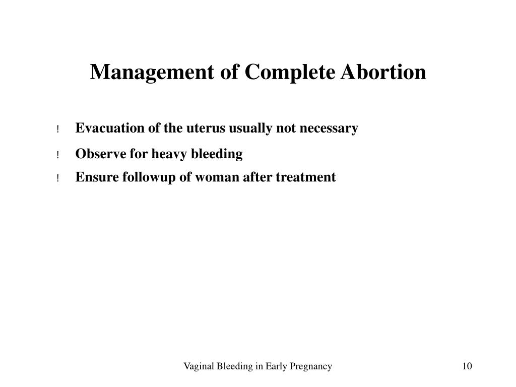 Management of Complete Abortion