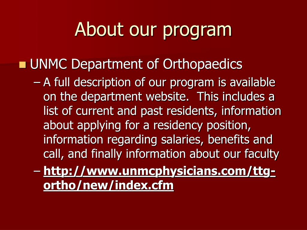 About our program
