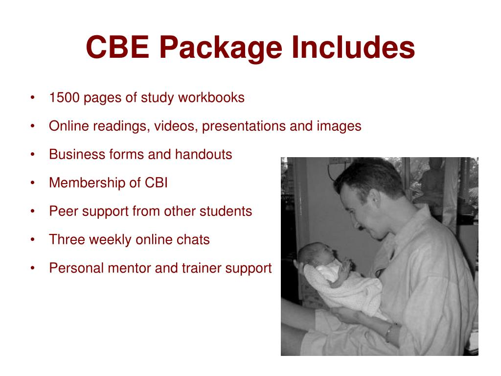 CBE Package Includes