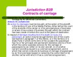 jurisdiction b2b contracts of carriage1