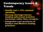 contemporary issues trends