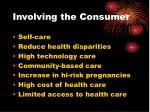 involving the consumer
