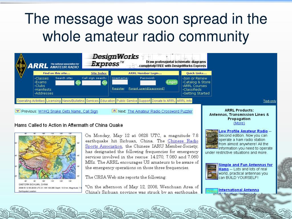 PPT - Amateur Radio Emergency Communication In Action