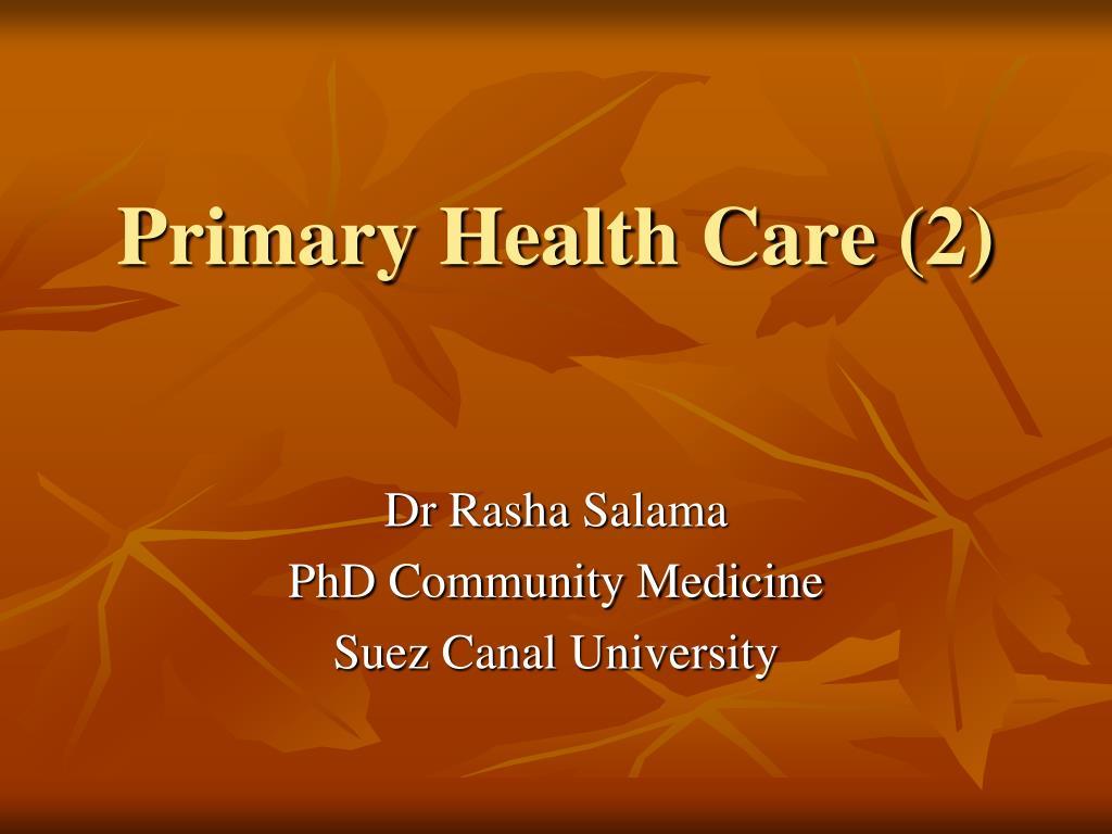 primary health care 2 l.