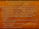 the integrated management of childhood illness imci
