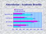 abecedarian academic benefits