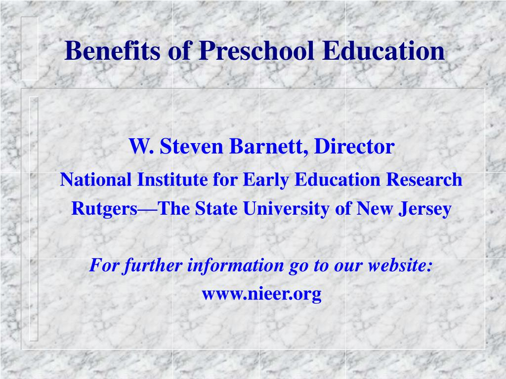 benefits of preschool education l.
