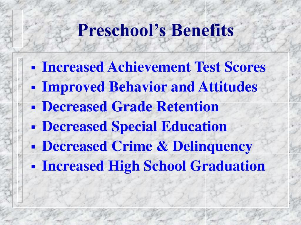 Preschool's Benefits