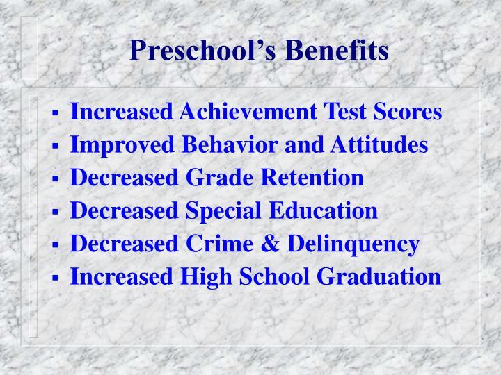 Preschool s benefits
