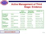 active management of third stage evidence