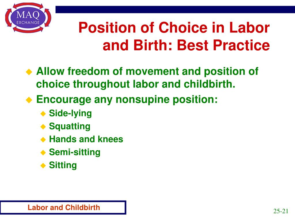 Position of Choice in Labor