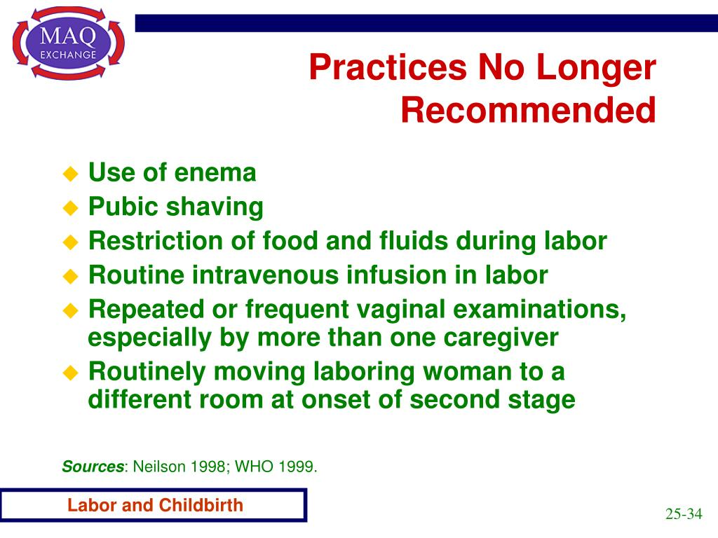 Practices No Longer Recommended