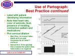 use of partograph best practice continued
