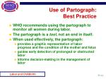 use of partograph best practice
